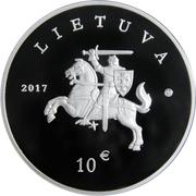 10 euros Braque lituanien et Žemaitukas -  avers
