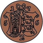 2 kopecks Élisabeth I (refrappe; 4 kopeck matrice d'avers; cuivre) – revers