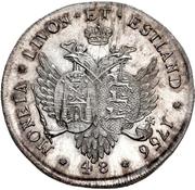 48 kopecks Élisabeth I (refrappe; matrice d'avers ½ rouble) – revers