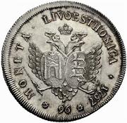 96 kopecks Élisabeth I (refrappe; matrice d'avers Saint-Pétersbourg) – revers