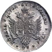 48 kopecks Élisabeth I (Krasny; essai; type 1) – revers