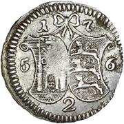 2 kopecks Élisabeth I (refrappe; 4 kopeck matrice d'avers; argent) – revers