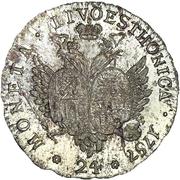 24 kopecks Élisabeth I (refrappe; matrice d'avers origine; petit flan) – revers