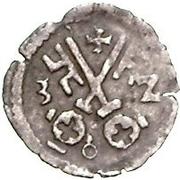 1 pfennig Wolter von Plettenberg (Riga; une bouclier) – revers
