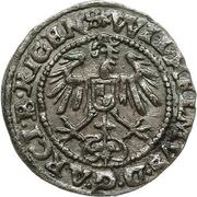 1 schilling Heinrich von Galen & Wilhelm von Brandenburg (Riga; haut lisse) – revers