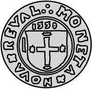 1 schilling Johann von der Recke (Reval) – avers