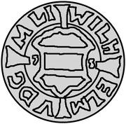 1 schilling Wilhelm von Fürstenberg (Riga) – avers