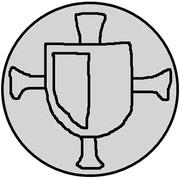 1 pfennig Wolter von Plettenberg & Jasper Linde (Riga; bouclier lisse) – avers