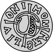 1 pfennig Wolter von Plettenberg & Jasper Linde (Riga; une bouclier; fond bosselé) – avers