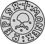 1 pfennig Wolter von Plettenberg & Jasper Linde (Riga; une bouclier; fond bosselé) – revers