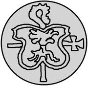 1 pfennig Wolter von Plettenberg & Jasper Linde (Riga; bouclier bosselé) – revers