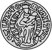 1 ferding Wolter von Plettenberg & Jasper Linde (Riga; bouclier courbé; enfant à droite) – revers