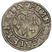 1 ferding Heinrich von Galen (Reval; bouclier simple) -  avers
