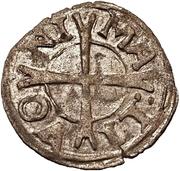 1 pfennig Heinrich von Galen (Reval) – revers