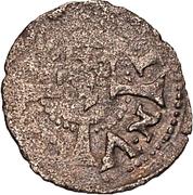 1 pfennig Heinrich von Galen & Wilhelm von Brandenburg (Riga) – avers