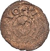 1 pfennig Heinrich von Galen & Wilhelm von Brandenburg (Riga) – revers