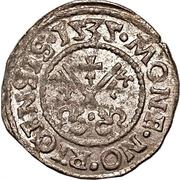 1 schilling Hermann von Brüggeneye (Riga; coins plats avec lignes complètes) – revers