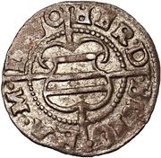1 schilling Hermann von Brüggeneye (Riga; coins courbes) – avers