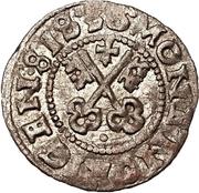 1 schilling Hermann von Brüggeneye (Riga; coins courbes) – revers