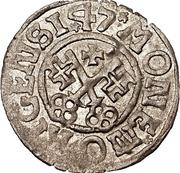 1 schilling Hermann von Brüggeneye (Riga; coins pointus) – revers