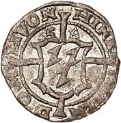 1 schilling Heinrich von Galen & Wilhelm von Brandenburg (Riga; haut bosselé à côtés longues) – avers
