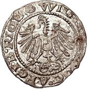 1 schilling Heinrich von Galen & Wilhelm von Brandenburg (Riga; haut bosselé à côtés longues) – revers