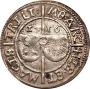 1 ferding Wolter von Plettenberg & Jasper Linde (Riga; bouclier lisse; enfant à gauche; moitié droite ombragée) – avers