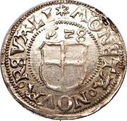 1 ferding Wolter von Plettenberg (Reval; haut plat; bouclier plat) – revers