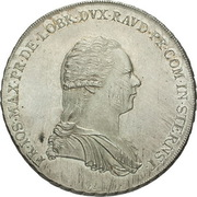 1 thaler Franz Joseph Maximillian – avers