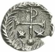 ¼ siliqua Au nom de Justin II, 565-574 (staurogramme fermé avec point ci-dessous) – revers