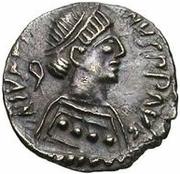 ¼ siliqua Au nom de Justin II, 565-574 (staurogramme ouvert sans point au-dessus) – avers