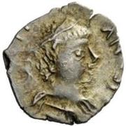 ¼ silique Au nom de Justinien I, 527-565 (sans étoiles) – avers