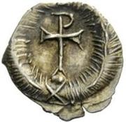 ¼ silique Au nom de Justinien I, 527-565 (sans étoiles) – revers