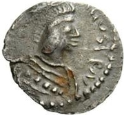 ¼ siliqua Au nom de Justinian I, 527-565 (avec étoiles; cheveux casqué) – avers