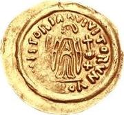 1 tremissis Au nom de Maurice Tiberius, 582-602 (Victoire à visage plein; sans N dans le champ) – revers