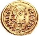 1 tremissis Au nom de Maurice Tibère, 582-602 (Victoire à visage plein; sans N dans le champ) – avers