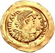 1 tremissis Au nom de Maurice Tiberius, 582-602 (Victoire à visage plein; avec N dans le champ) – avers