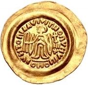 1 tremissis Au nom de Maurice Tiberius, 582-602 (Victoire à visage plein; avec N dans le champ) – revers