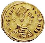 1 tremissis Au nom de Justin II, 565-574 (Victoire face à droite; sans étoile) – avers