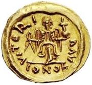 1 tremissis Au nom de Justin II, 565-574 (Victoire face à droite; sans étoile) – revers