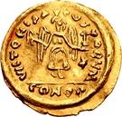 1 tremissis Au nom de Justin II, 565-574 (Victoire face à droite; avec étoile et flottant) – revers