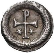 ½ siliqua Au nom de Justin II, 565-574 (staurogramme fermé sans point ci-dessous) – revers