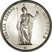 5 lire (gouvernement provisoire) – avers