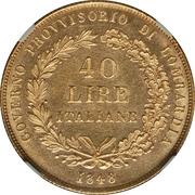 40 lire – avers