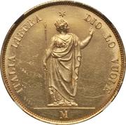 40 lire – revers
