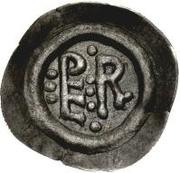 ½ silique Perctarith (pièce posthume; monogramme mince avec huit points) – avers