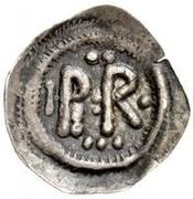 ½ silique Perctarith (pièce posthume; monogramme mince avec onze points) – avers