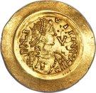 1 tremissis Liutprand (buste régulier; avec lettre dans le champ) – avers