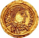 1 tremissis Aripert I – avers