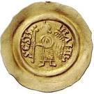 1 tremissis Aripert II (avec croix dans le champ) – revers
